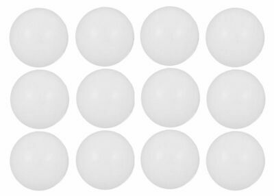 12 Table Tennis Balls Ping Pong Plain Logo Free White Plastic Official Size