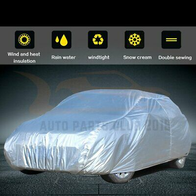 228*80*49 Inch Silver Grey Elastic Hem Car/Vehicle Cover Waterproof & Durable