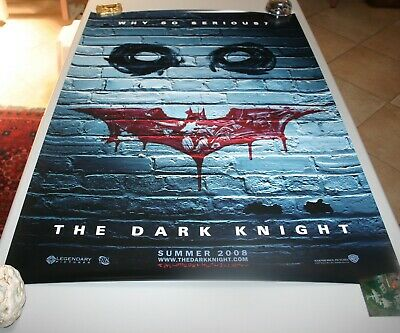 Original D//S 27x40 Movie Poster 2008 WHY SO SERIOUS? style DARK KNIGHT
