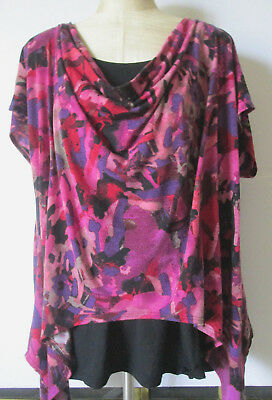 b4f869464c8 FASHION BUG Womens Tunic Top 2X Scoop Neck Short Sleeve Multi W/ Attached  Tank