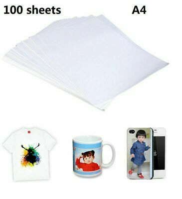 100 Sheets A4 Sublimation Heating Transfer Paper for Inkjet Printer Mug T-shirt