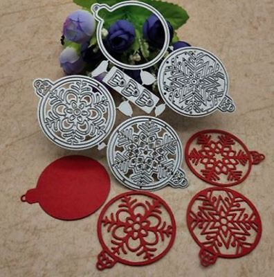 5 piece metal Christmas ornament dies - for use in most cutting systems!