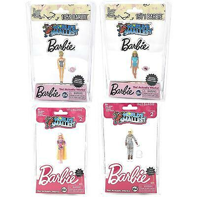 "Worlds Smallest Barbie 1959, 1965, 1971, 1992  World's Smallest 3"" (Set of 4)"