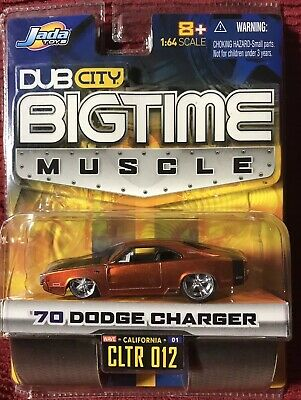 Jada Toys Bigtime Muscle Voiture~ '70 Dodge Charger - 1:64 Moulage sous Pression