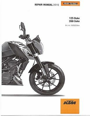 KTM Service Workshop Shop Repair Manual Book 2016 200 Duke