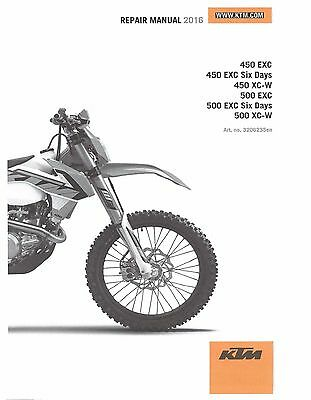 ktm service workshop shop repair manual book 2016 500 exc Ktm 500 Exc Service Manual