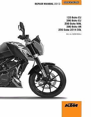 KTM Service Workshop Shop Repair Manual Book 2013 125 DUKE