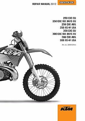 KTM Service Workshop Shop Repair Manual Book 2012 250 EXC