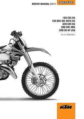 KTM Service Workshop Shop Repair Manual Book 2013 200 EXC