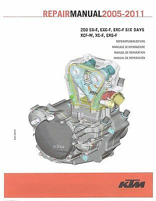 KTM Engine Service Workshop Shop Repair Manual Book 2011 250 XCF-W