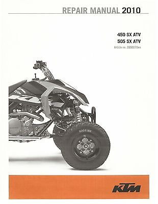 KTM ATV Service Workshop Shop Repair Manual Book 2010 505 SX ATV