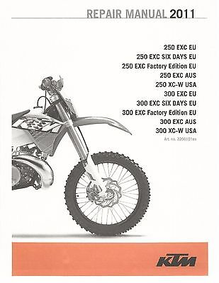 KTM Service Workshop Shop Repair Manual Book 2011 250 EXC