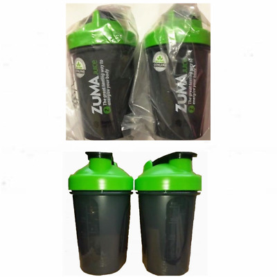 ZUMA Juice 20 oz. Blender Bottle Set of 2 Or 4 Bottles BRAND NEW Black & Green