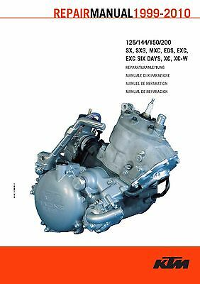 KTM Engine Manual Service Workshop Shop Repair Manual Book 2010 125 EXC