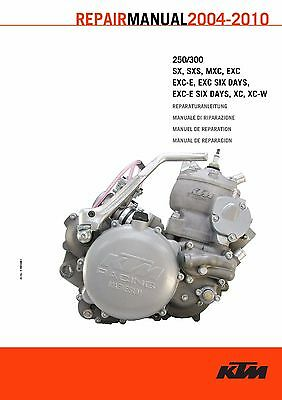 KTM Engine Service Workshop Shop Repair Manual Book 2006 250 EXC-E
