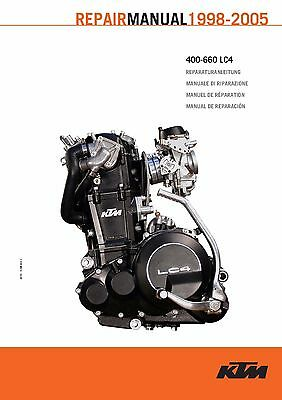 KTM Service Workshop Shop Repair Manual Book 1998 620 LC4 COMPETITION