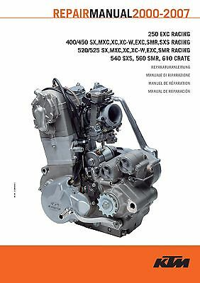 KTM Engine Service Workshop Shop Repair Manual Book 2000 520 SX RACING