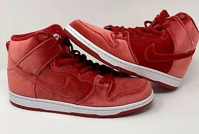 size 40 c83d6 1cca6 Nike SB Pro Dunk High Premium Red Velvet Mens Size 11 New w Box (