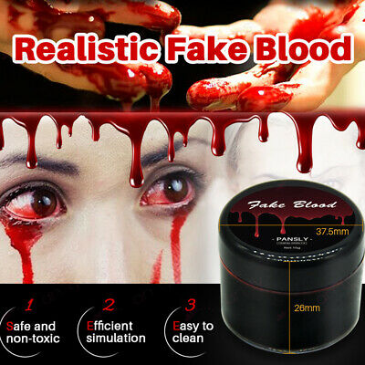 Halloween Realistic Fake Blood Vampire Zombie Makeup Accessory Cosplay Prop H5Yw