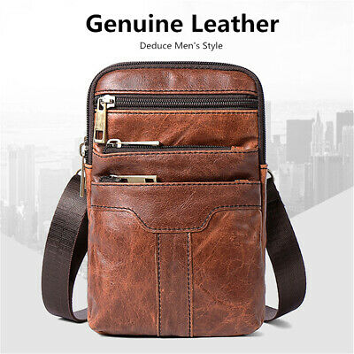 95c90d9537 Men Genuine Leather Shoulder Bag Messenger Crossbody Handbag Briefcase  Vintage