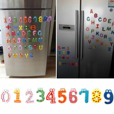Cute Wood Fridge Magnet Sticker Alphabet Animal Number Kid Early Educational Gif