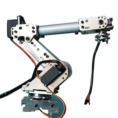 6 Aluminum Robot Arm 6 Axis Rotating Mechanical Stainless Steel RobotArm Kit DIY