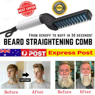 2019 Quick Beard Straightener Multifunctional Hair Comb Curling Curler For Man