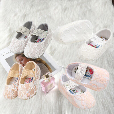 New Soft Baby Toddler Infant Lace Crawling Walking Shoes Non Slip Sole Prewalker