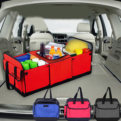 Trunk Foldable Multi Bag Collapsible Organizer Box with Cooler Storage Car Cargo