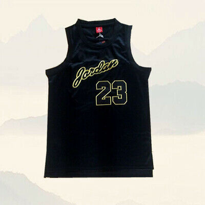 Michael Jordan Bulls Throwback #23 Chicago Bulls Basketball Jersey Black Gold