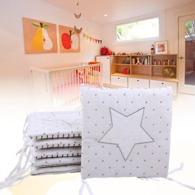6Pcs/Set Cotton Baby Infant Cot Crib Bumper Toddler Nursery Bed Protector