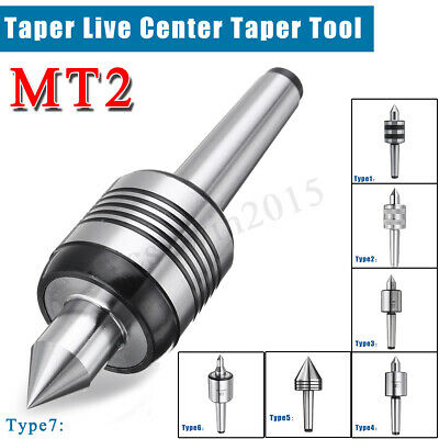 8 Type MT2 MT3  Lathe Live Center Revolving Morse Taper Triple Bearing Turning