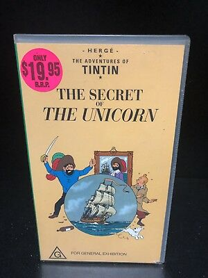 THE ADVENTURES OF TINTIN Vhs - THE SECRET OF THE UNICORN ON VHS (G)