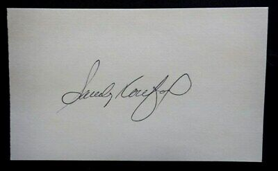 3e463026bb5 Sandy Koufax HOF Brooklyn LA DODGERS Hand Signed Autographed Auto 3x5 Index  Card
