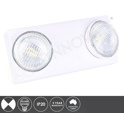 LITHIUM 2x2W LED Emergency Twinspot Light Wall Mount Non-Maintained Flood Light