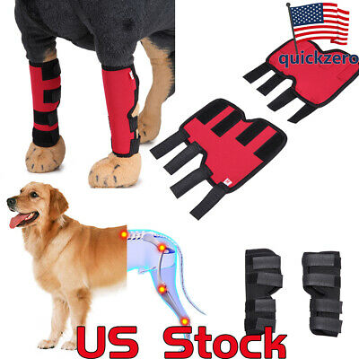 Pet Knee Pads Dog Brace for Hind Leg Hock Joint Wrap ACL/CCL Injury Recover Legs