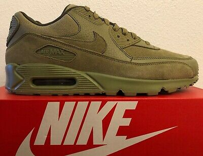 the latest 40990 f2eaa Nike Air Max 90 Premium Men s Running Suede Neutral Olive Green 700155-202  NEW