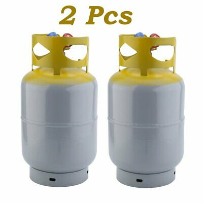 2 Pack Refrigerant Recovery Reclaim 30lb Cylinder Tank 400 PSI R410A Rated EK