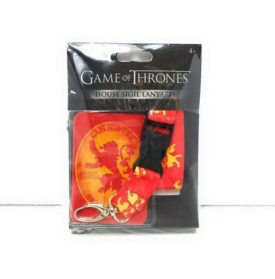 HBO Game of Thrones House Sigil Lanyard W/ ID Holder Lannister NEW