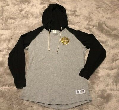 info for 05db3 8b292 VICTORIAS SECRET PINK NFL Pittsburg Steelers Hoodie Size XS Gray Gold Cut  Big!