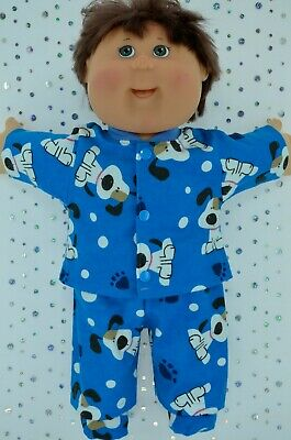 "Play n Wear Doll Clothes For 16""Cabbage Patch PJ'S~FLANNELETTE PANTS~TOP~BOOTIES"