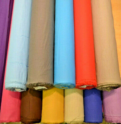 100% Cotton Fine Lawn Linen Look Fabric Washed Breathable Soft Material