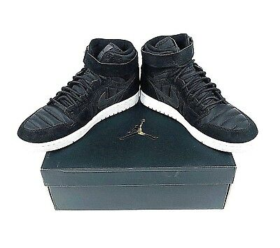 f1acac3de8d994 Nike Air Jordan 1 High Strap Shoes Mens Size 11 Black 342132 004 Basketball  Gym
