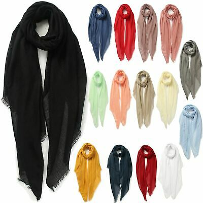 New Women's Simple Long One Size Many Colours Plain Cosy Stylish Scarf