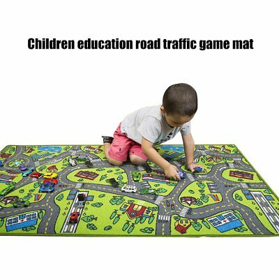 Car Rug Kid for Toy Cars Playroom and Classroom Multi Color Activity Play Mat IK