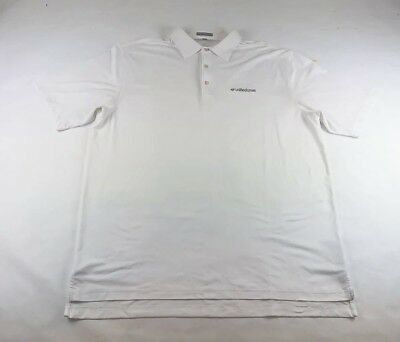 1ee33a6ec Peter Millar Summer Comfort Polo Short Sleeve Solid White Stretch Mens Size  XL