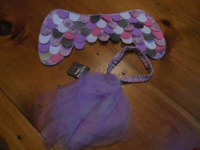 MATILDA JANE S Toddler Magical You Fabric Wings & Tail Tulle Belt Costume 2-pc