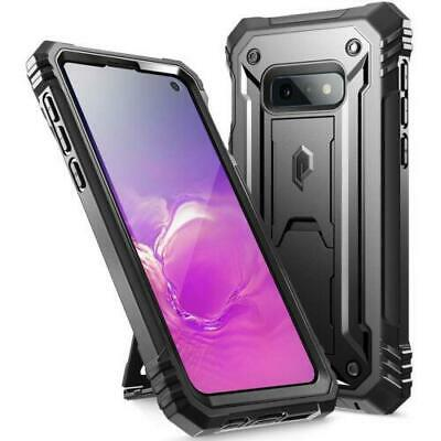 Galaxy S10e Kickstand Rugged Case,Poetic® Shockproof Hard Shell Cover Black