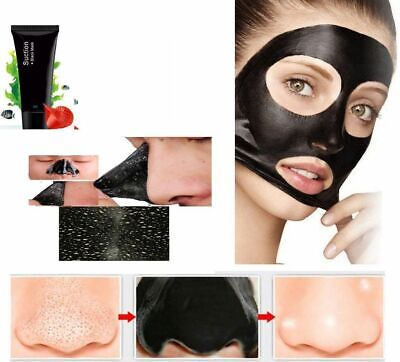 Glamza Charcoal Blackhead Remover Peel Off Facial Cleaning Black Face Mask 60g