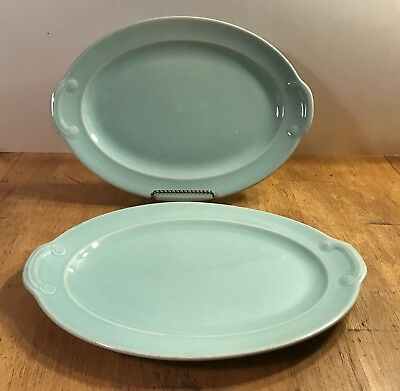 "Set of 2  Vintage LuRay Pastels Oval Serving Platters~Plates~12"" x 8 1/2"""